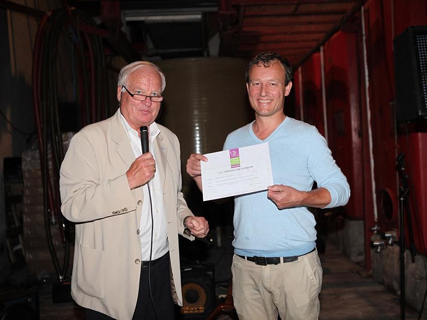 Le trophée des lauréats du concours des vins de France 2017 remis à la Bergerie du Capucin